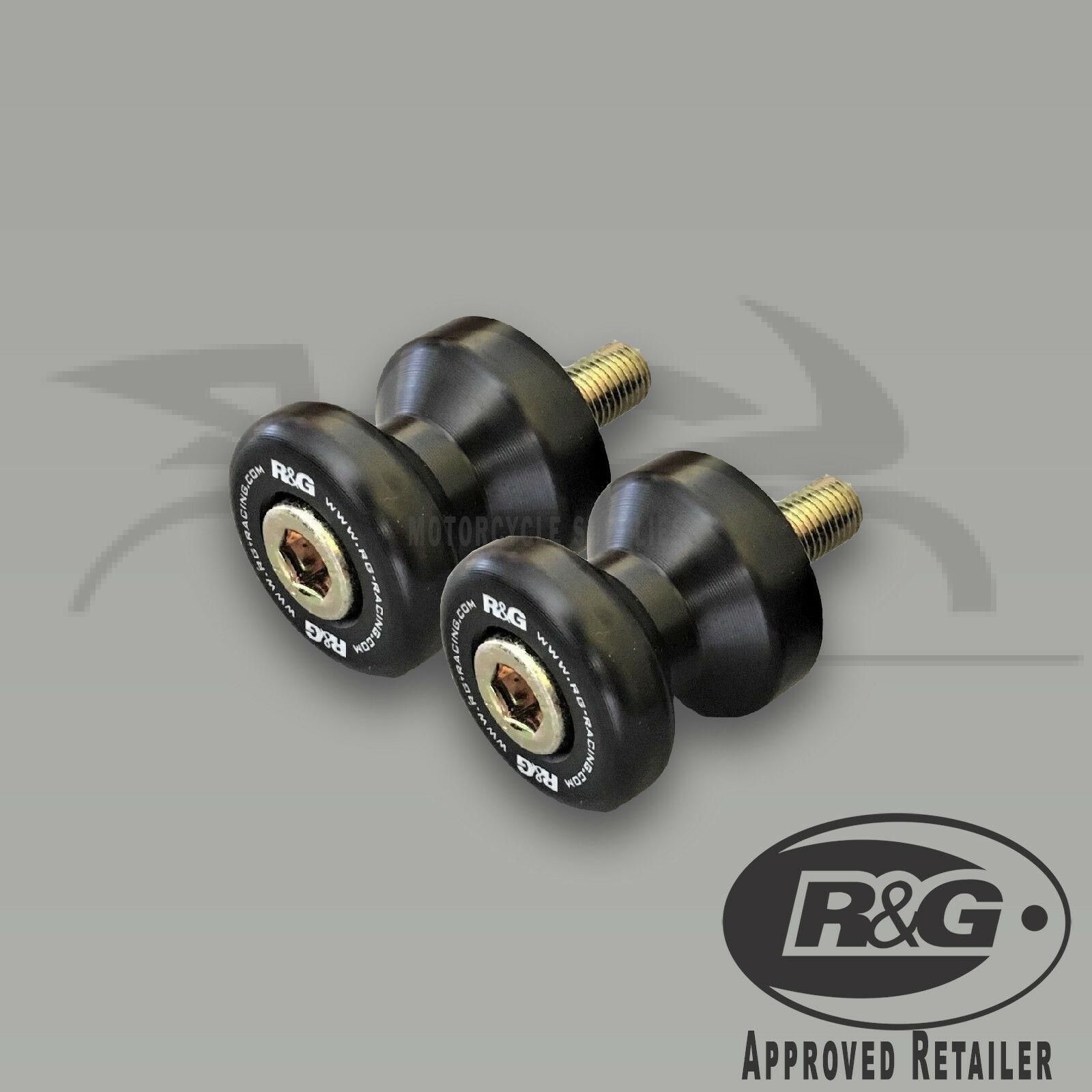 Suzuki GSXR1000R 2019 R/&G Racing Black M8 Cotton Reels Paddock Stand Bobbins
