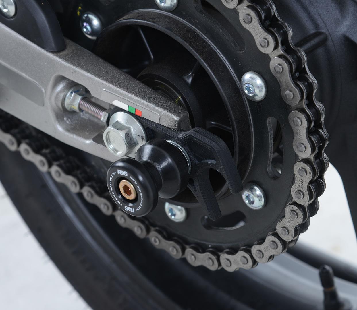 2018 R/&G Racing black swingarm protectors for Suzuki GSX-S125